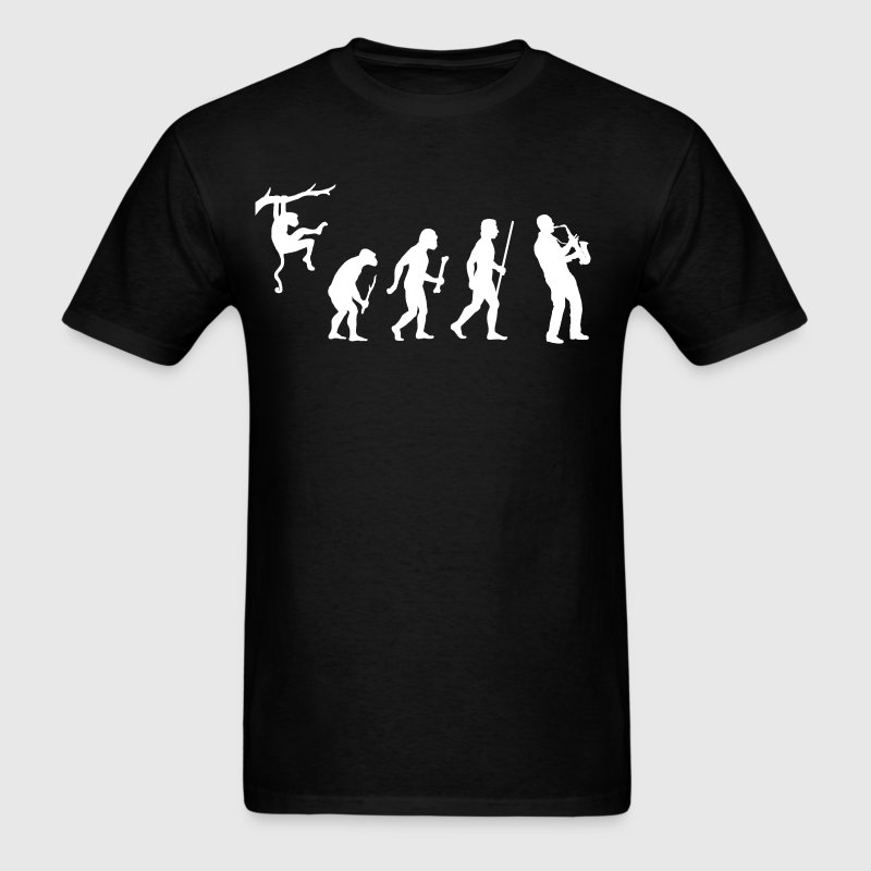 Evolution of Saxophone - Men's T-Shirt