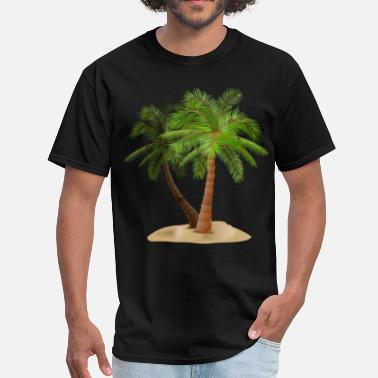 Palm Trees palms in sand - Men's T-Shirt