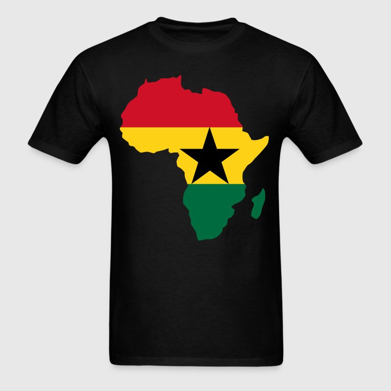 Ghana Flag In Africa Map - Men's T-Shirt