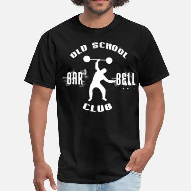 Old Bodybuilding Old School Barbell Club - Men's T-Shirt