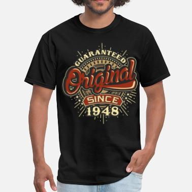 70th Birthday Gifts Presents Year 1948 Unisex Ringer Vintage T Shirt Aged To Old
