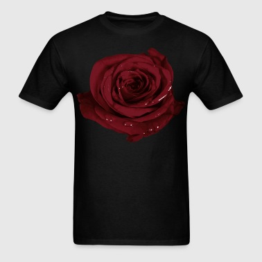 Realistic Rose Design - Men's T-Shirt