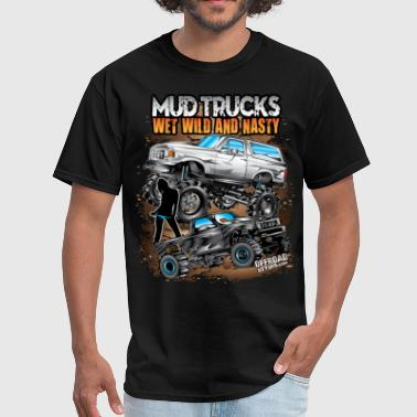 Mega Mud Truck Bunch - Men's T-Shirt