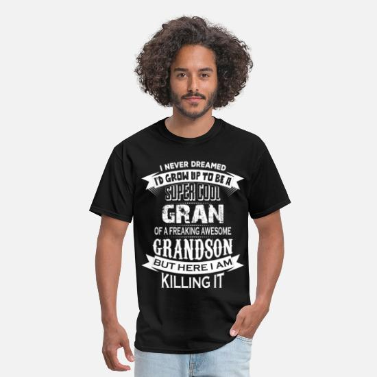 Dad T-Shirts - Super Cool Gran Of A Freaking Awesome Grandson - Men's T-Shirt black