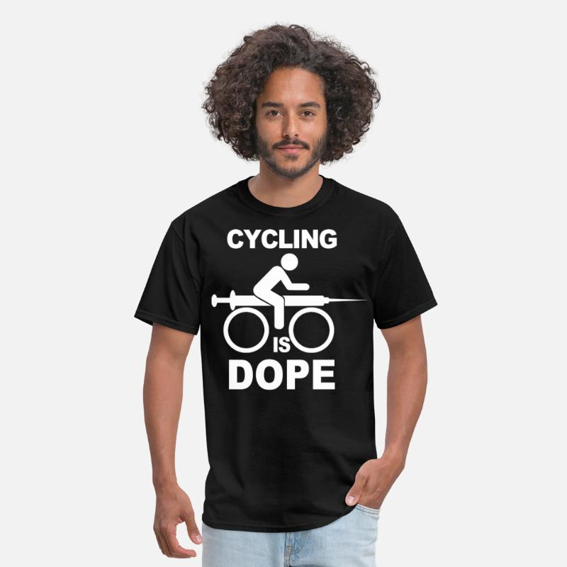 Funny T-Shirts - Cycling Is Dope - Men's T-Shirt black