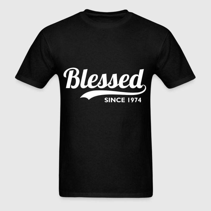 Blessed since 1974 - Birthday Thanksgiving - Men's T-Shirt