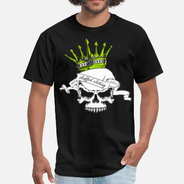 Crowned Skull skull and crown - Men's T-Shirt