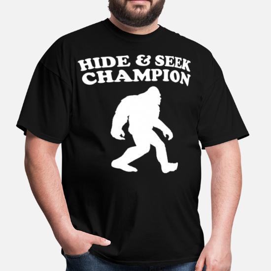 6d0bf53a Bigfoot Hide And Seek Champion Funny T-Shirt Men's T-Shirt | Spreadshirt