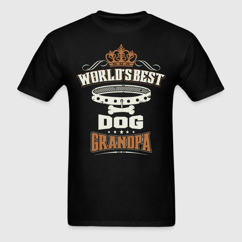 World's Best Dog Grandpa T-Shirt - Men's T-Shirt