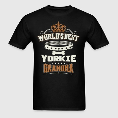 World's Best Yorkie Grandma T-Shirt - Men's T-Shirt