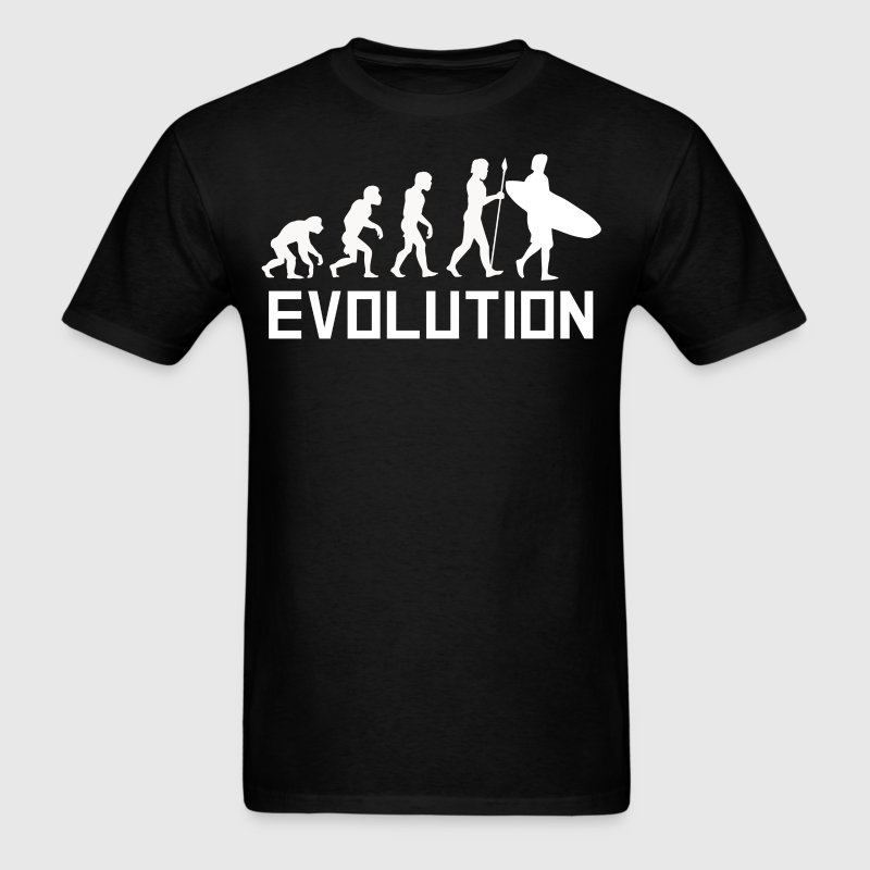 Surfer Evolution Funny Surfing Shirt - Men's T-Shirt