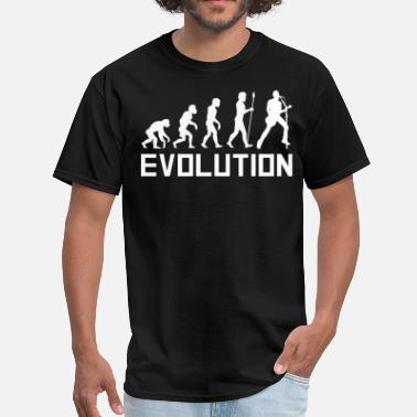 Singer Evolution Lead Singer Guitar Evolution Funny Music Shirt - Men's T-Shirt