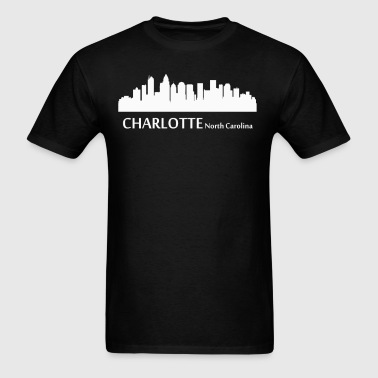 Charlotte North Carolina Downtown Skyline - Men's T-Shirt