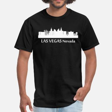 Downtown La Las Vegas Nevada Downtown Skyline Silhouette - Men's T-Shirt