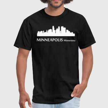 Minneapolis Silhouette Minneapolis Minnesota Downtown Skyline - Men's T-Shirt