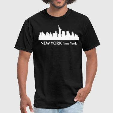 New York New York Downtown Skyline Silhouette - Men's T-Shirt