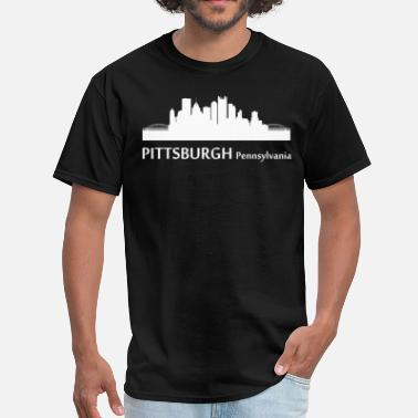 Pittsburgh Pennsylvania Pittsburgh Pennsylvania Downtown Skyline - Men's T-Shirt