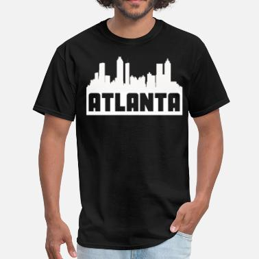 Atlanta Atlanta Georgia Skyline Silhouette - Men's T-Shirt