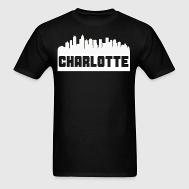 Charlotte North Carolina Skyline Silhouette - Men's T-Shirt