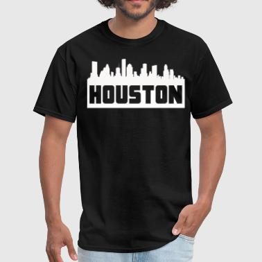 Houston Texas Skyline Silhouette - Men's T-Shirt