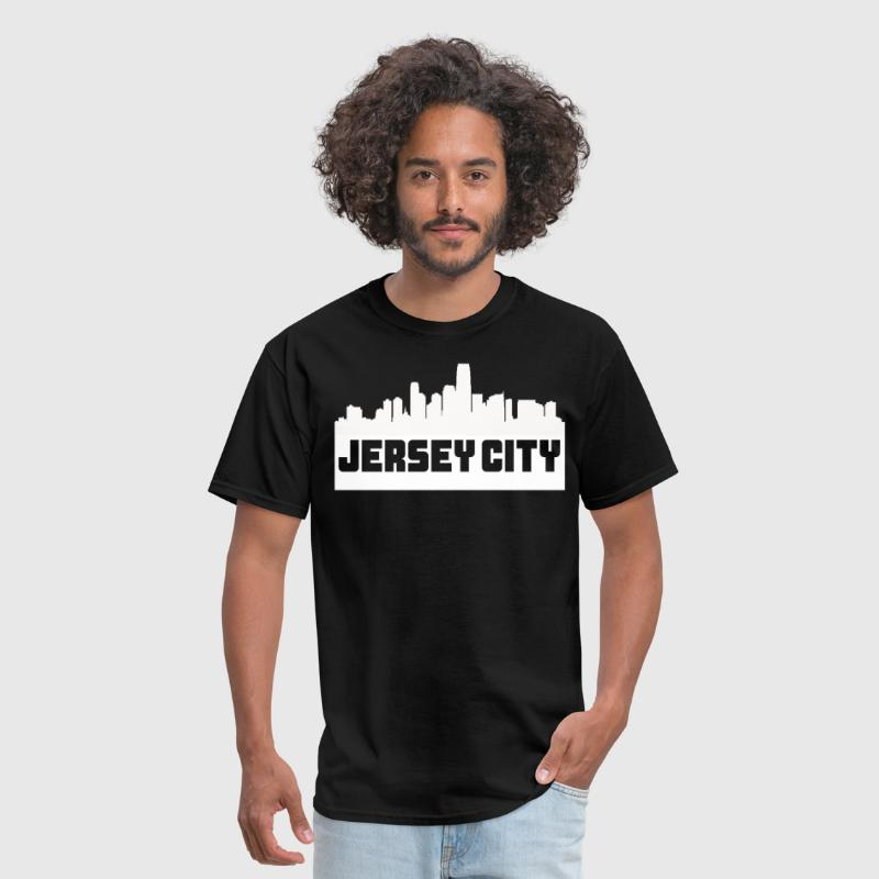 Jersey City New Jersey Skyline Silhouette - Men's T-Shirt