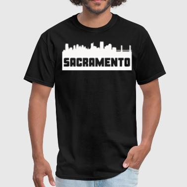 Sacramento California Skyline Silhouette - Men's T-Shirt