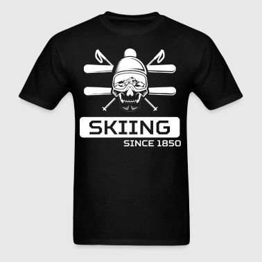 Skiing Since 1850 Skier Skull - Men's T-Shirt