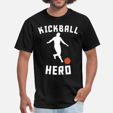 Kick Ball Funny Kickball Hero Kick Ball Silhouette Funny Kickball - Men's T-Shirt