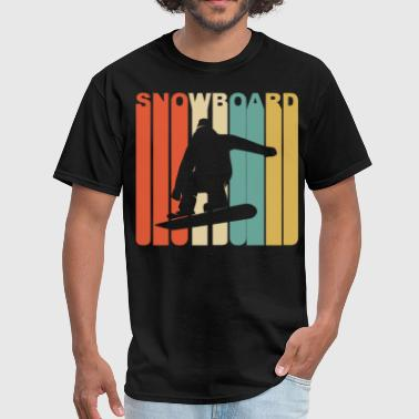 1970's Style Snowboarder Silhouette Snowboarding - Men's T-Shirt