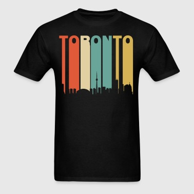 Retro Toronto Canada Cityscape Downtown Skyline - Men's T-Shirt