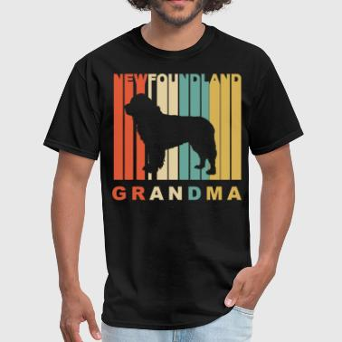 Newfoundland Grandma Retro Style Newfoundland Grandma Dog Grandparent - Men's T-Shirt
