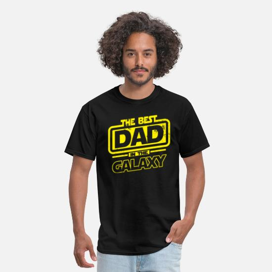 Dad T-Shirts - The Best Dad In The Galaxy - Men's T-Shirt black