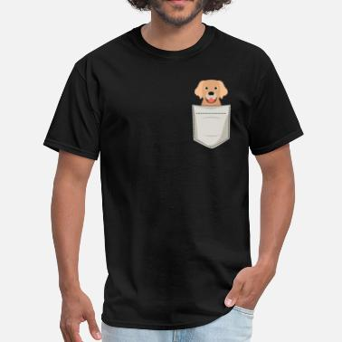 Golden Retriever Golden Retriever In a Pocket - Men's T-Shirt