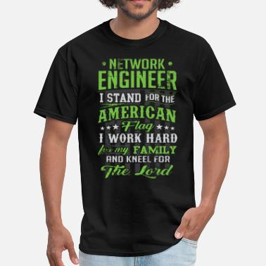 Networking Network Engineer Flag Gift - Men's T-Shirt