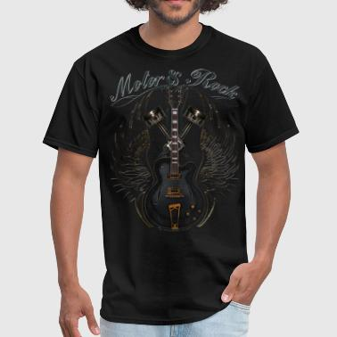 motor and rock v2 pistons guitar wings - Men's T-Shirt