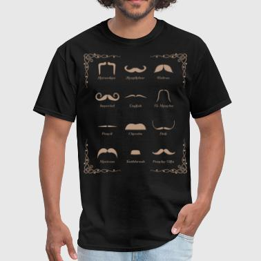 Hair Chart Mustache Style Identification Chart - Men's T-Shirt
