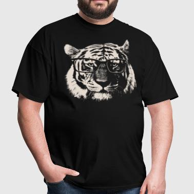 Hipster Tiger With Glasses - Men's T-Shirt