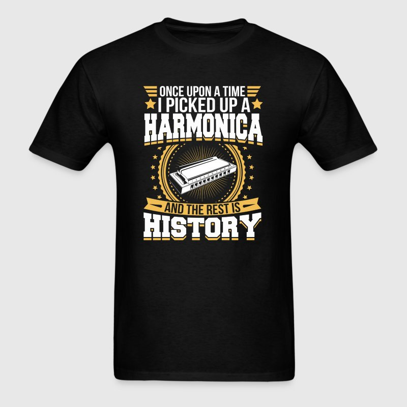 Harmonica And the Rest is History T-Shirt - Men's T-Shirt