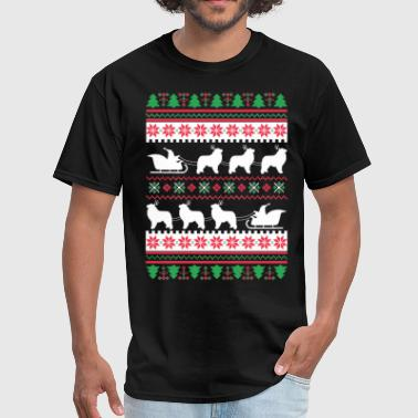 Great Pyrenees Santa's Reindeer Christmas Ugly T-S - Men's T-Shirt