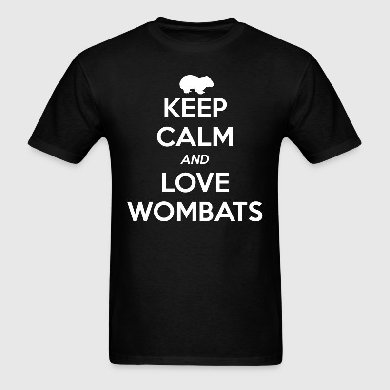 Wombat Keep Calm and Love - Men's T-Shirt