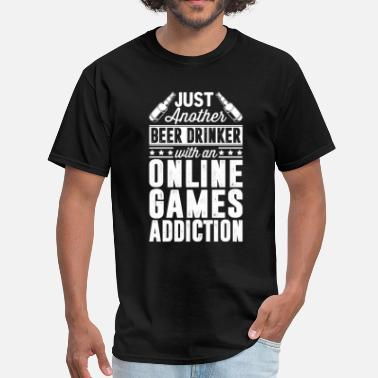 Online Games Beer & online Games Addiction - Men's T-Shirt