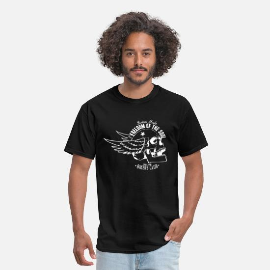 Bike T-Shirts - Freedom of the soul - Men's T-Shirt black