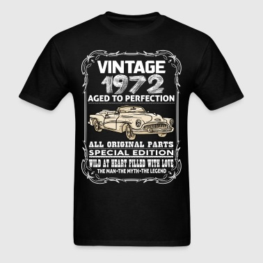 VINTAGE 1972-AGED TO PERFECTION - Men's T-Shirt