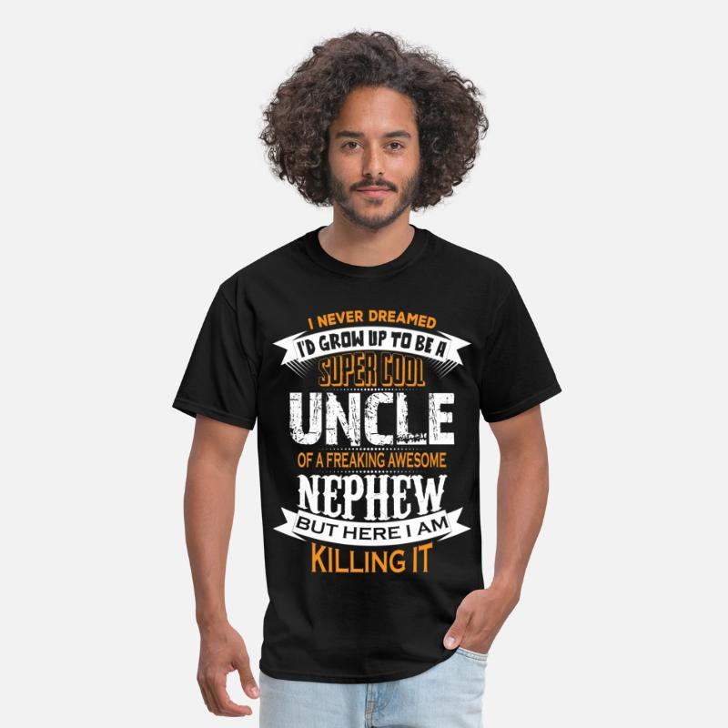 Uncle T-Shirts - Super Cool Uncle Of A Freaking Awesome Nephew - Men's T-Shirt black