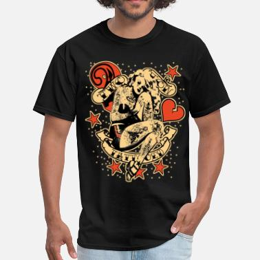 Pinup Screwed & tattooed Pin Up Zombie - Men's T-Shirt