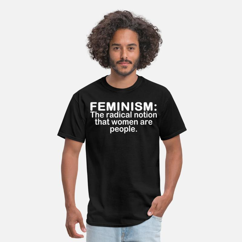 Funny T-Shirts - Feminism the radical notion that women are people - Men's T-Shirt black