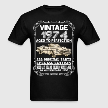 VINTAGE 1974-AGED TO PERFECTION - Men's T-Shirt