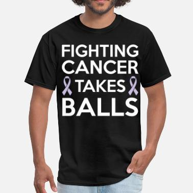 Mens Cancer Fighting cancer takes balls - Men's T-Shirt