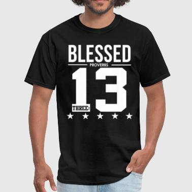 Bible Verse Blessing Blessed Proverbs 3:13 Bible Verse Scripture  - Men's T-Shirt