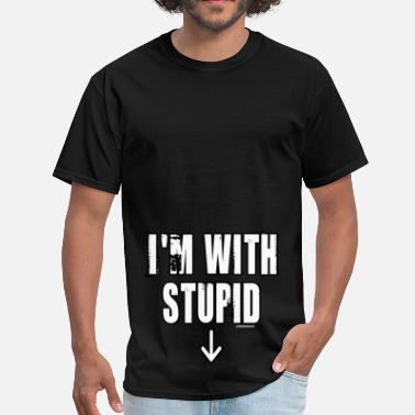 Gainomax Monkey I'm with Stupid - Men's T-Shirt